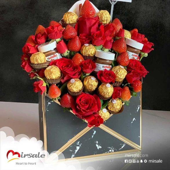بوكس الورد مع شوكولا