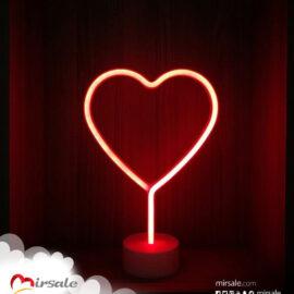 ضوء قلب نيون