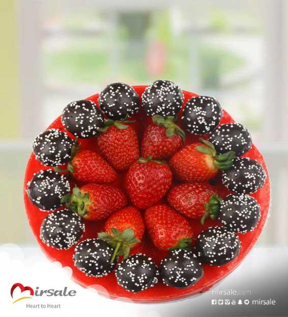 فراولة بالشوكولا